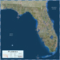 Florida Satellite Wall Map