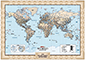 Personalized Antique World Wall Map