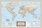 Personalized Antique World Mounted Wall Map