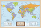 Personalized World Mounted Wall Map
