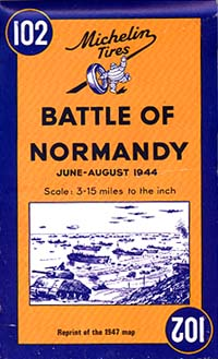France, Battle of Normandy, 1944 Travel Map