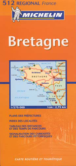 France, Brittany Travel Map