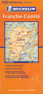 France, Franche Comte Street Map