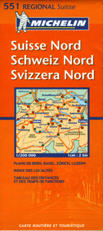 Switzerland, North Travel Map