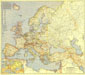 Europe And The Mediterranean Map 1938