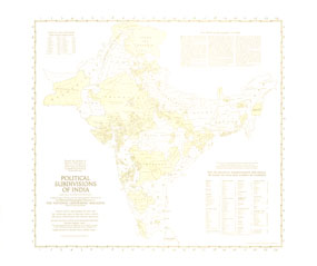 Political Subdivisions Of India Map 1946