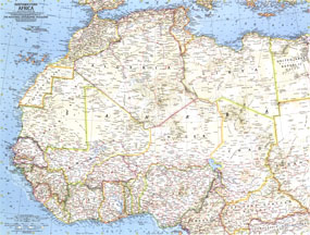 Northwestern Africa Map 1966