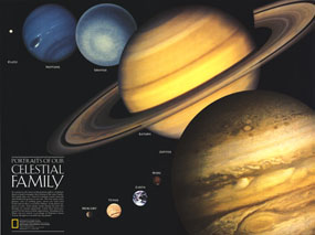 Portraits Of Our Celestial Family Map 1990