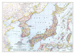 Japan And Korea Map 1945