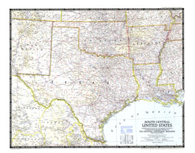 South Central United States Map 1947