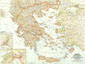 Greece And The Aegean Map 1958