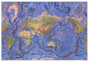 World Ocean Floor Map 1981
