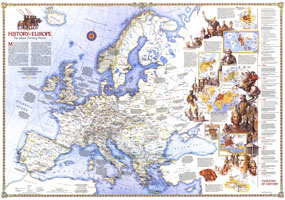 History Of Europe, The Major Turning Points Map 1983