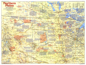 Northern Plains Map 1986 Side 1