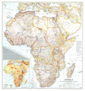 Africa Map 1943