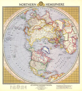 Northern Hemisphere Map