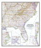 Southeastern United States Map 1947