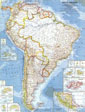 South America Map 1960