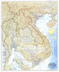 Vietnam, Cambodia, Laos, And Thailand Map 1967