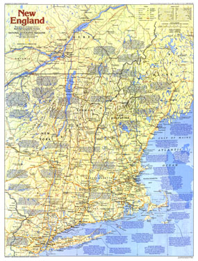New England Map 1987 Side 1