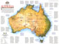 Travelers Look At Australia Map 1988