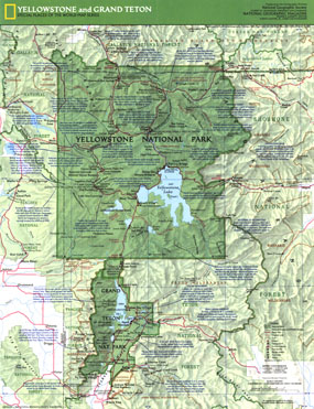 Yellowstone And Grand Teton Map 1989 Side 1