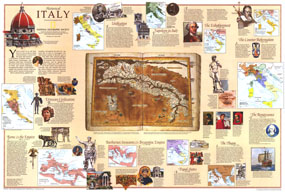 Historical Italy Map 1995
