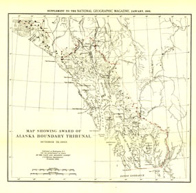 Alaska Boundary Tribunal Map 1904
