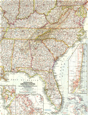 southeastern united states map