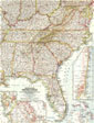 Southeastern United States Map 1958