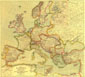 Europe Map 1915 with Africa and Asia