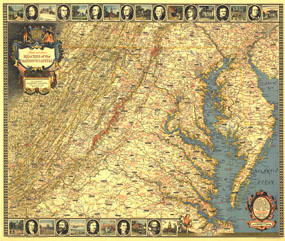 Historic and Scenic Reaches Of The Nations Capital Map 1939