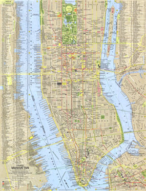 Tourist Manhattan Map 1964