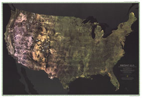 USA Portrait Map 1976