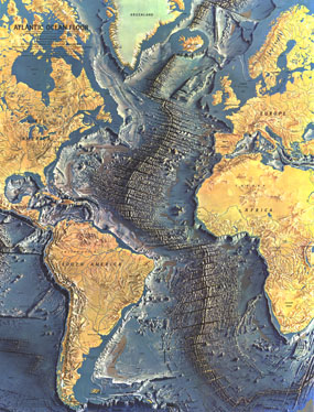 Atlantic Ocean Floor Map 1968
