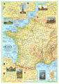 Travelers Map Of France Map 1971 Side 1