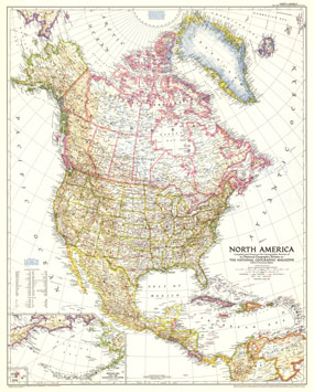 North America Map 1952