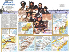 Making Of America, Atlantic Gateways Map 1983