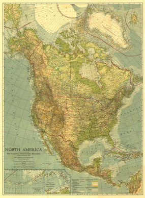 North America Map 1924
