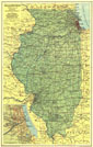 Illinois Map 1931