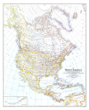 North America Map 1942