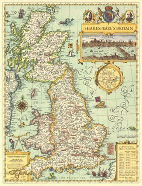 Shakespeares Britain Map 1964