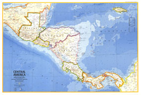 Central America Map 1973