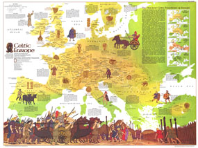 Celtic Europe Map 1977