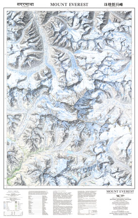 mount everest map 1988高清图片