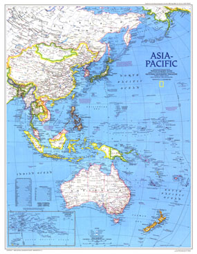 Asia-Pacific Map 1989