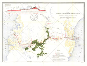 Proposed Location Of Panama Canal 1899 1902 Map