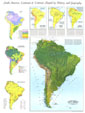 Physical Map Of South America Map 1972