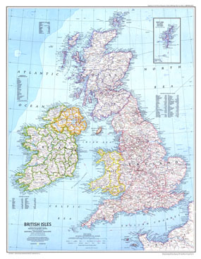 British Isles Map 1979
