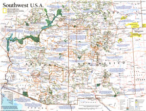 Southwest, USA Map 1992